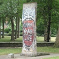 "Imperial War Museum, London - ""Peace"" of Berlin Wall at Entrance"