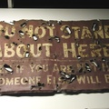 Imperial War Museum, London - Trench sign from WWI