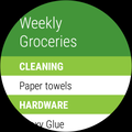 LG Watch Sport - using Our Groceries app to do my grocery shopping