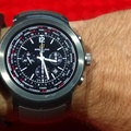 LG Watch Sport - Breitling Transocean Unitime Pilot Black watch face (Watchmaker)face