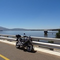 My bike at Theewaterskloof Dam