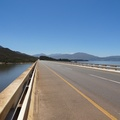 Road across Theewaterskloof Dam