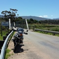 My bike at the old bridge outside Botrivier