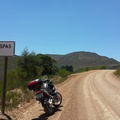 My bike at start of Van der Stel Pass