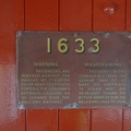 Matjiesfontein - plate on old railway carriage