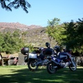 Bikes taking a well earned rest at Cederberg Oasis