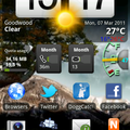 My current Android Homescreen after upgrade to Froyo