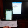 Testing Keyboard with TV Out cable with Galaxy Tab and creating an Excel Spreadsheet