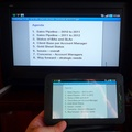 Testing TV Out cable with Galaxy Tab and a Microsoft Presentations