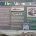 Sign giving history of Signal Hill