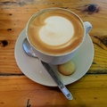 Cappuccino coffee at the tea rooms at Green Point Park